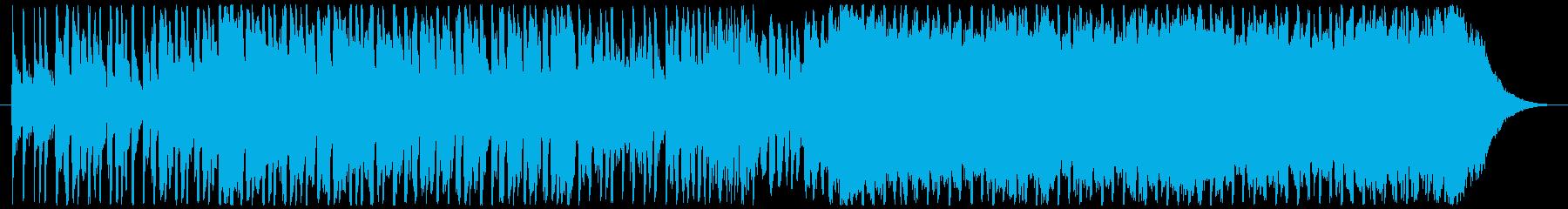 和楽器とEDMが融合したあげぽよな曲の再生済みの波形