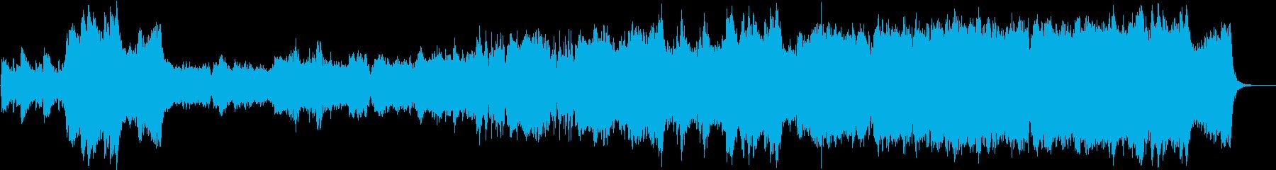 オリンピック感のあるオーケストラの序曲の再生済みの波形