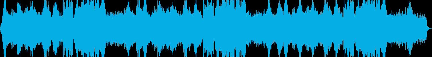 シリアス魔術的なシンセ・オーケストラ曲の再生済みの波形