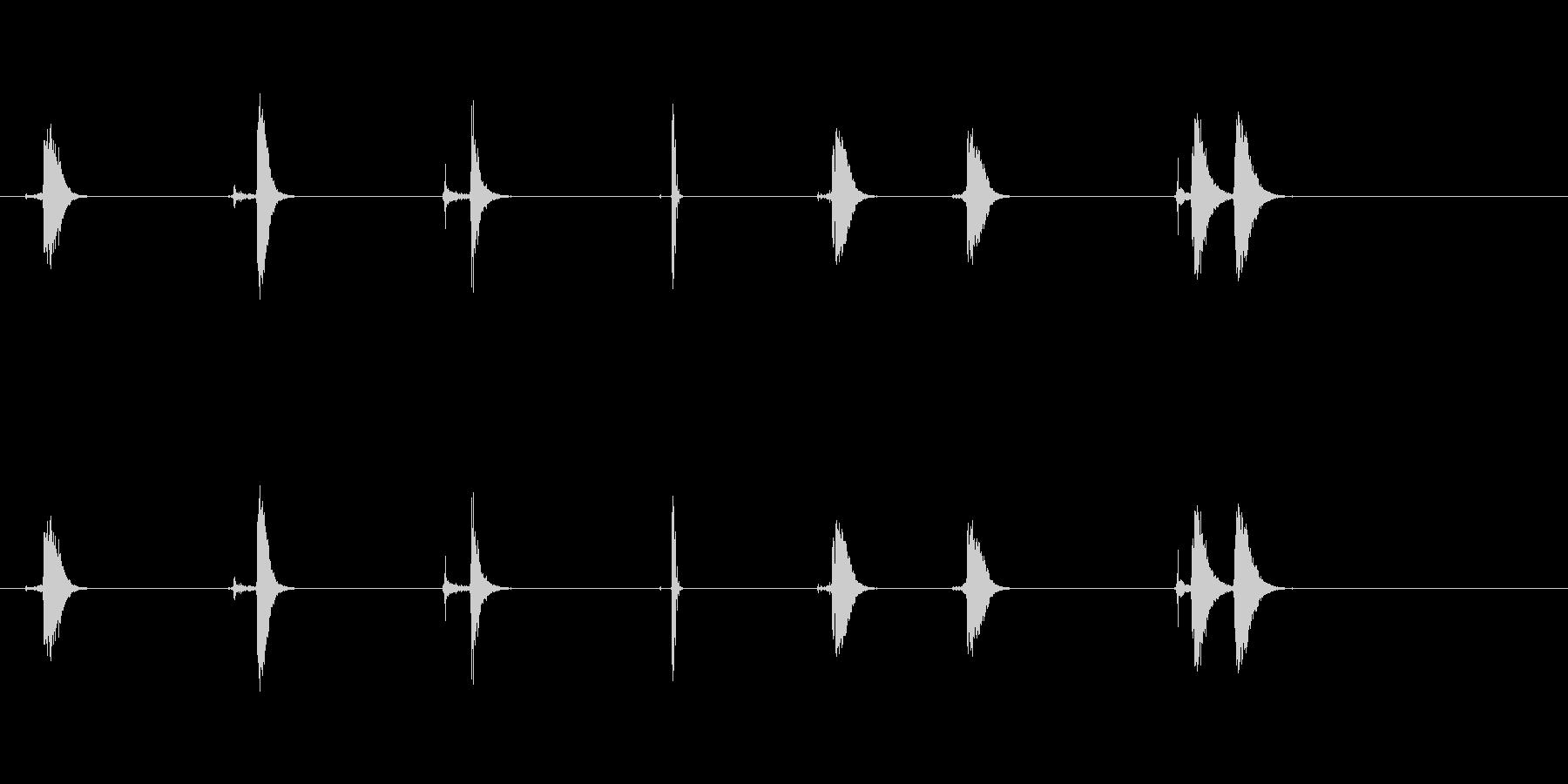 ハートビート58 Bpmの未再生の波形