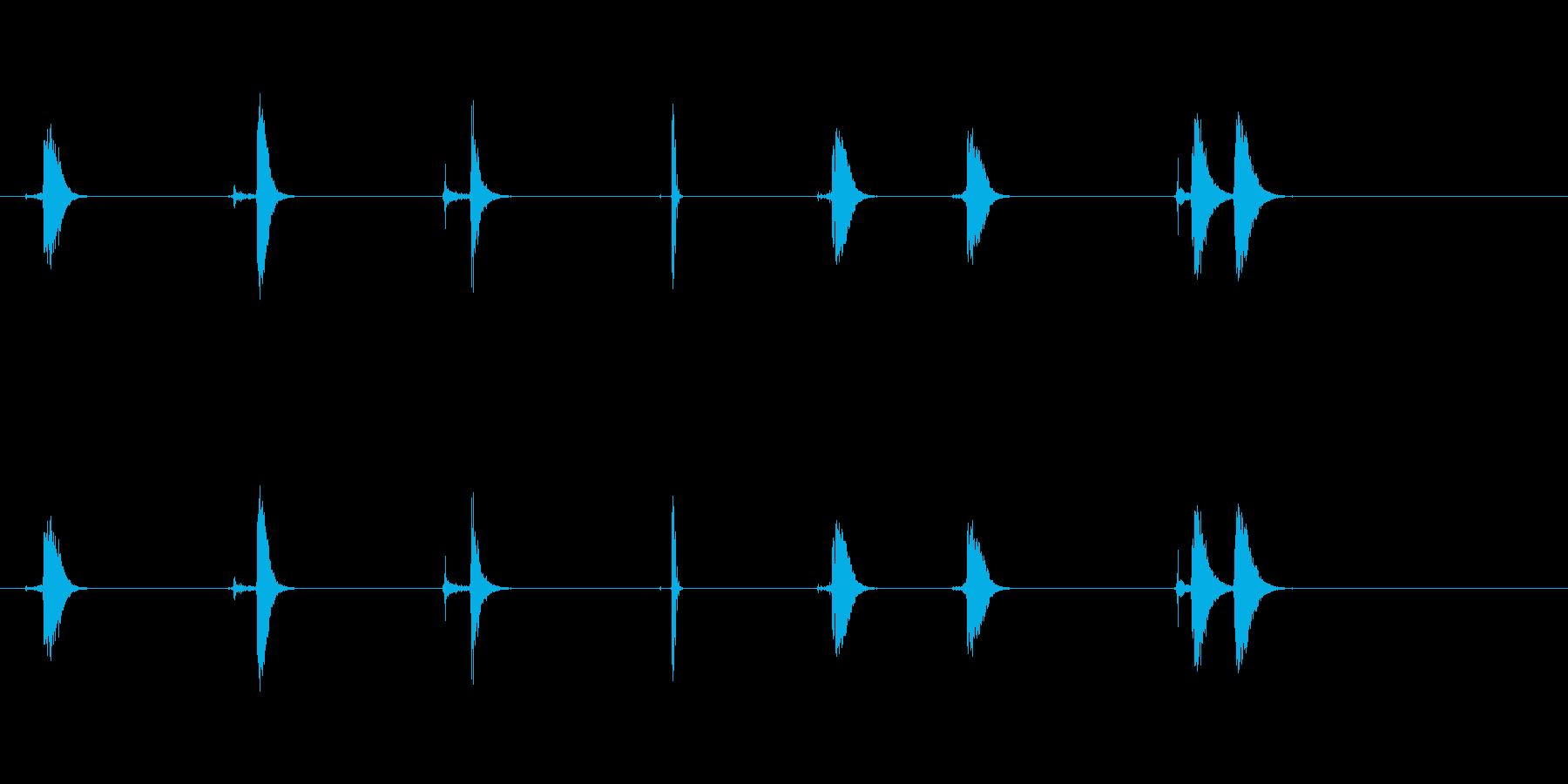 ハートビート58 Bpmの再生済みの波形