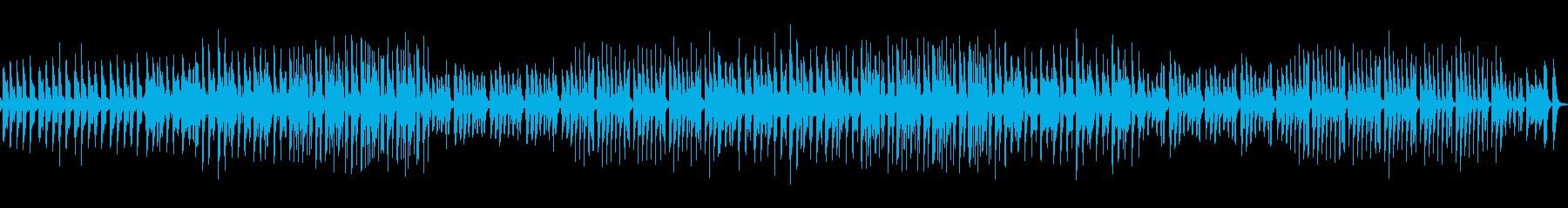 シンセサイザーを使い、やや演歌調の曲の再生済みの波形