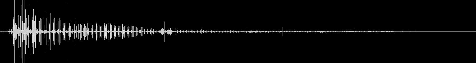 ブクブク(水面で細かい泡が弾ける音)の未再生の波形