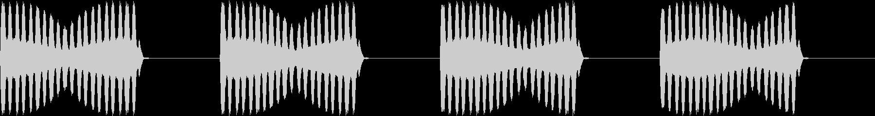 アラーム 電話 未来的 宇宙船 ブザーの未再生の波形