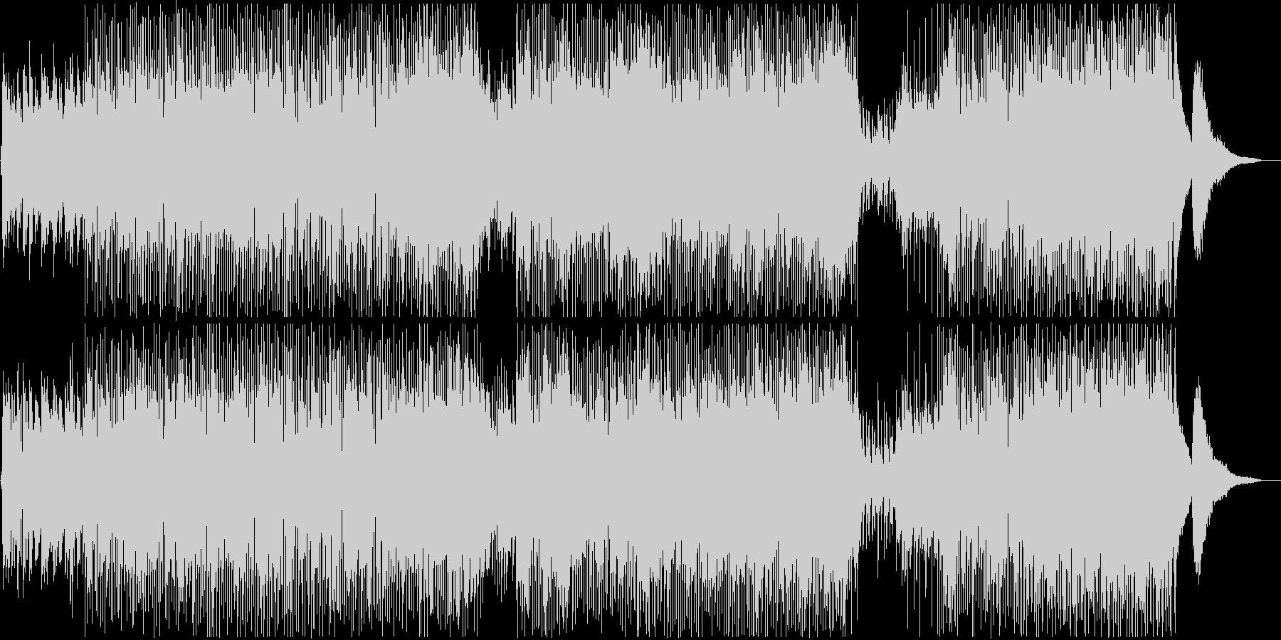 疾走感のあるピアノJazzロックの未再生の波形