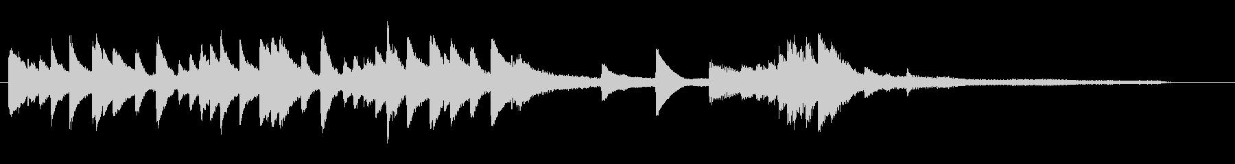 チャプター場面転換等に和風ピアノジングルの未再生の波形