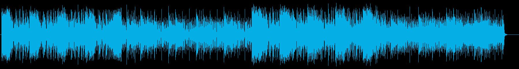 宇宙感のあるシンセサイザーテクノの再生済みの波形