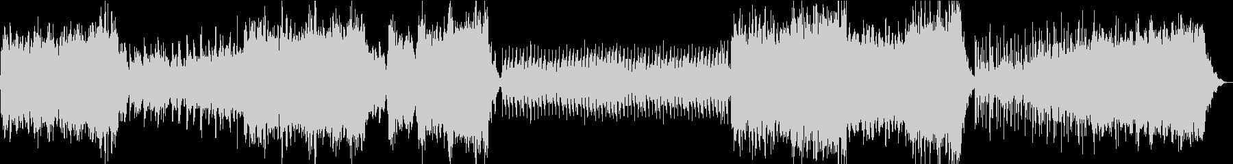 星空のアンビエントBGMの未再生の波形