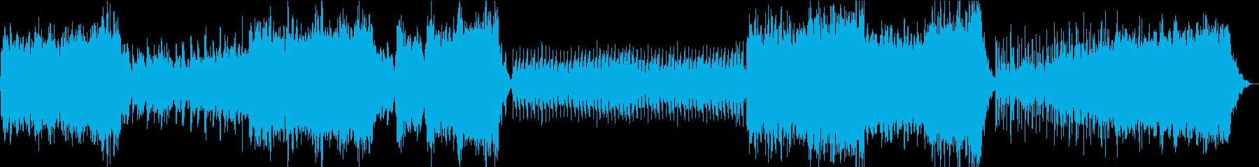 星空のアンビエントBGMの再生済みの波形