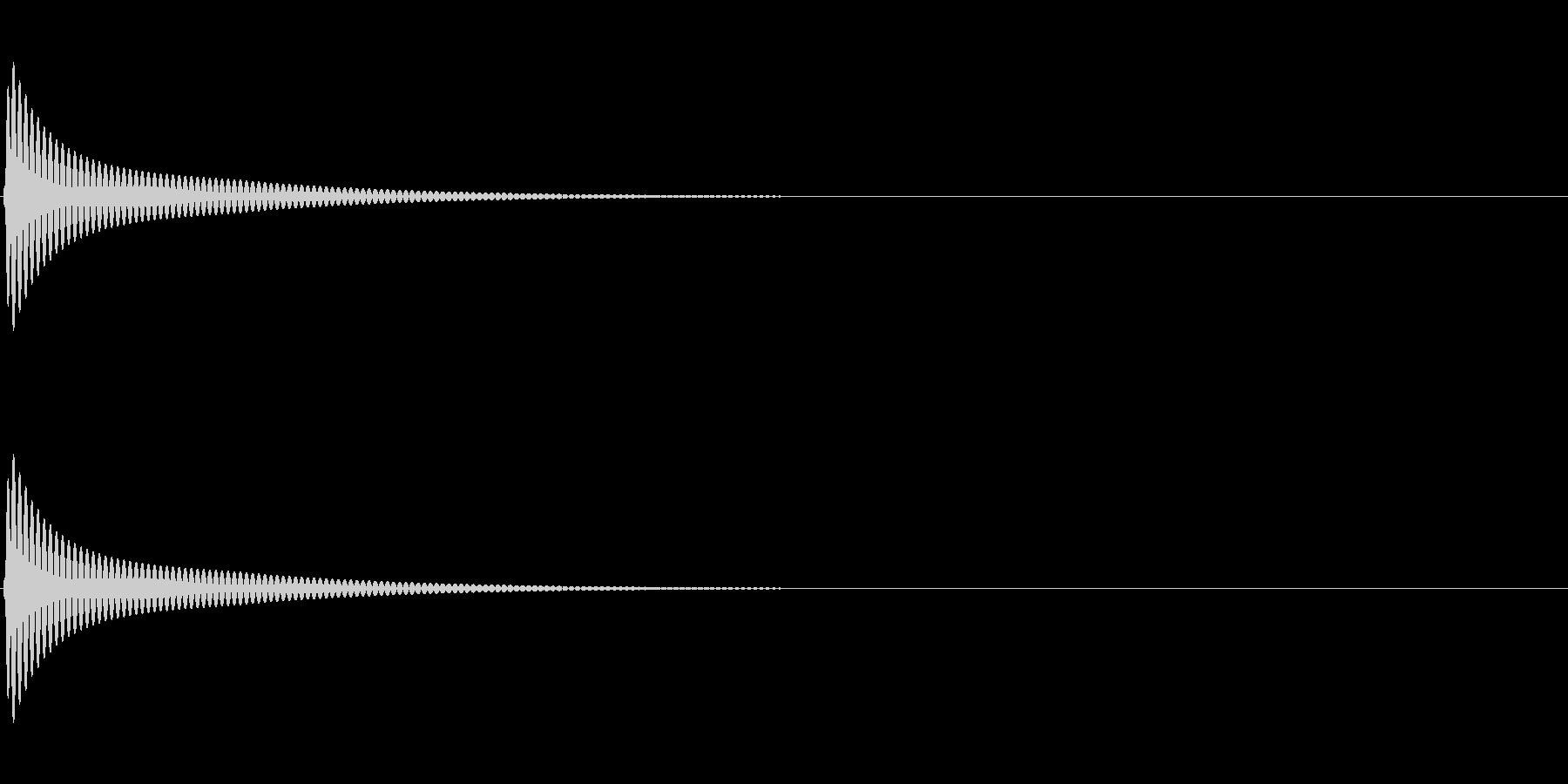 UI セレクト操作音 ポン かわいい系の未再生の波形