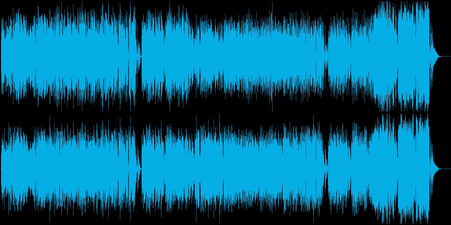 何気ない 素朴な日常生活の場面で切ない曲の再生済みの波形