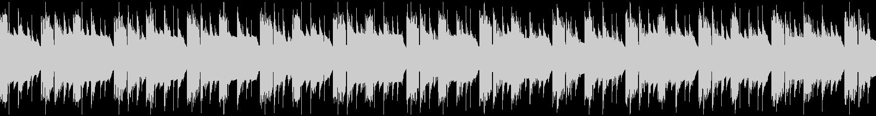 レトロなゲーム風BGM1 ループ仕様の未再生の波形