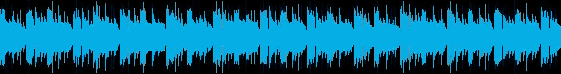 レトロなゲーム風BGM1 ループ仕様の再生済みの波形