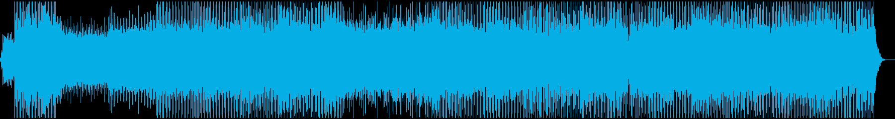 軽快なダンスミュージックの再生済みの波形