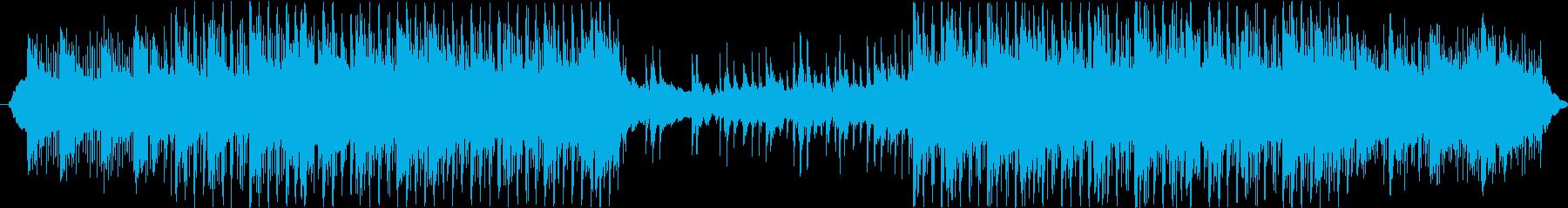 温かみのあるやる気を起こさせる音楽の再生済みの波形