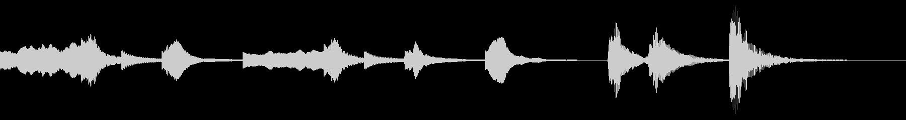 ストリングスとオルゴールの可愛いジングルの未再生の波形