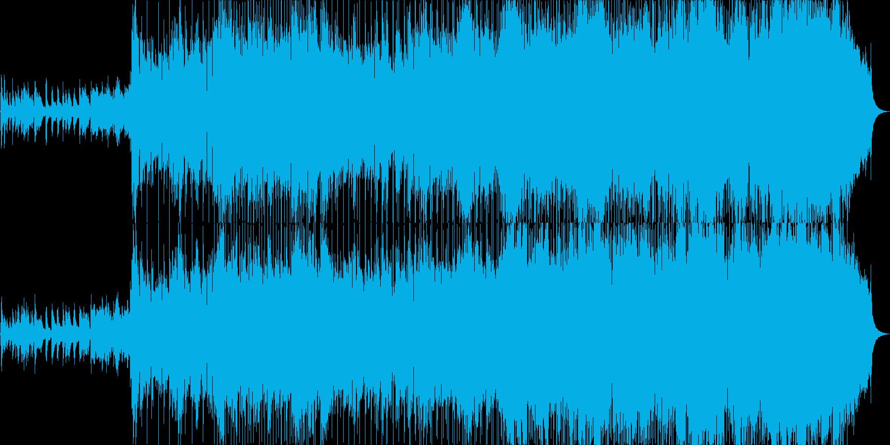きらきらしたオーケストラ風のBGM2の再生済みの波形