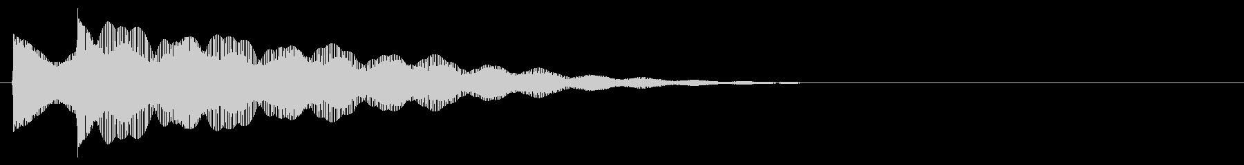 マレット系 決定音02(小)の未再生の波形