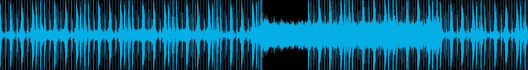 ローテンポから壮大になるスペーシーBGMの再生済みの波形