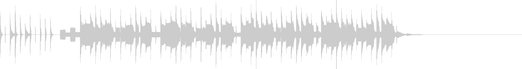 かわいい シンセテクノポップ ジングル1の未再生の波形