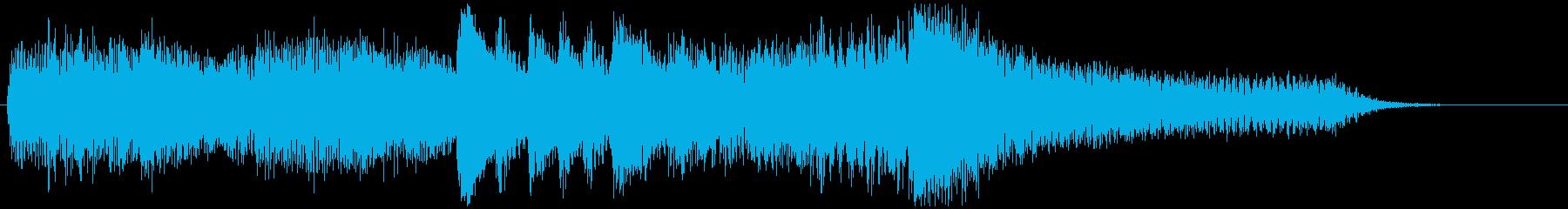 絶望のピアノの再生済みの波形