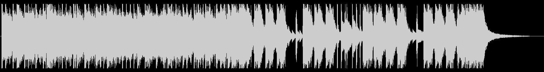 ロック調のエネルギッシュなジングルの未再生の波形