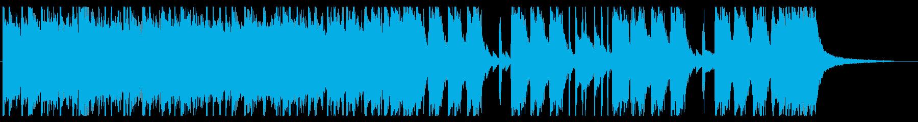 ロック調のエネルギッシュなジングルの再生済みの波形
