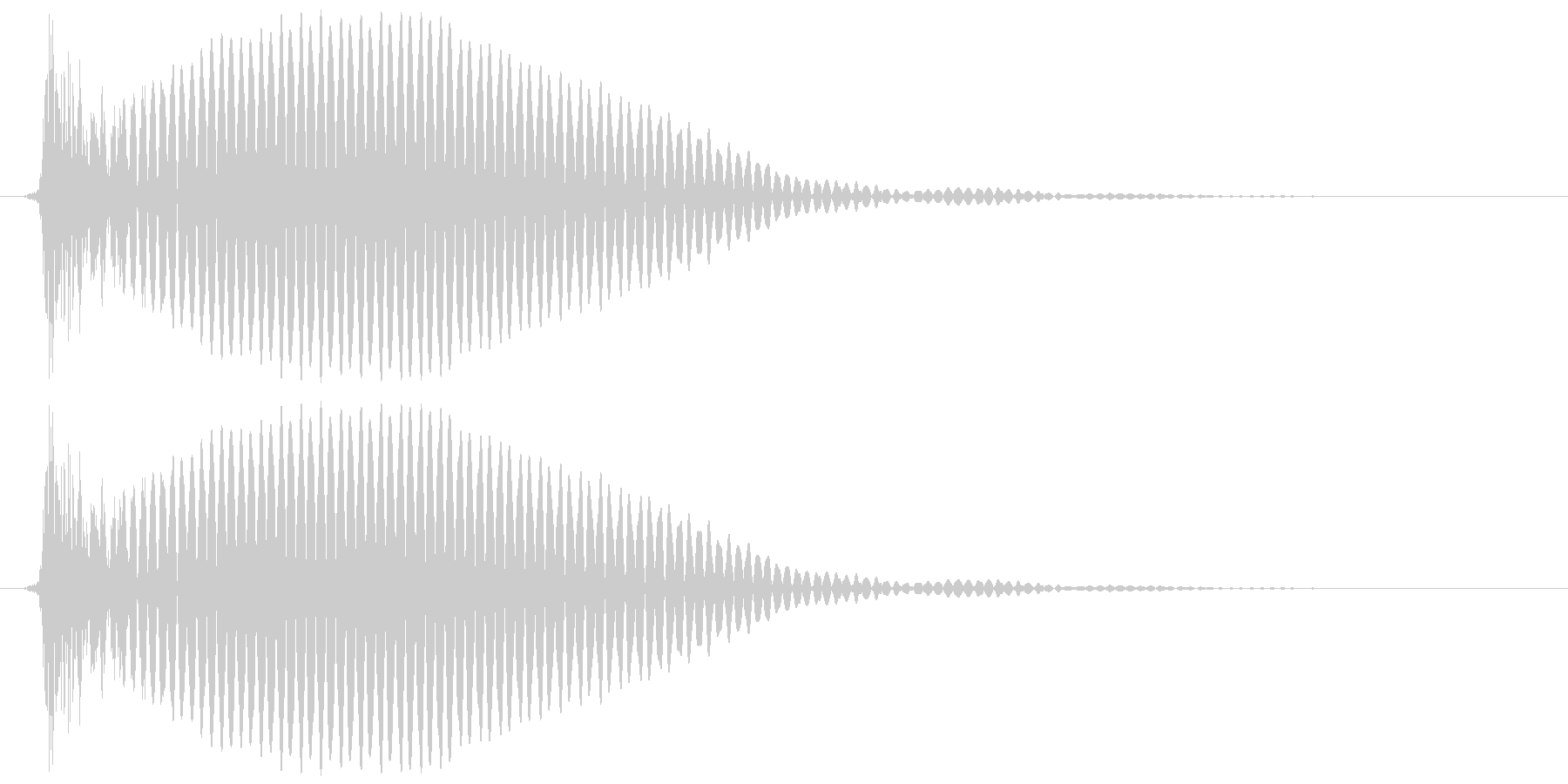 テレビ/ブラウン管 点灯カッ、ブオオンの未再生の波形
