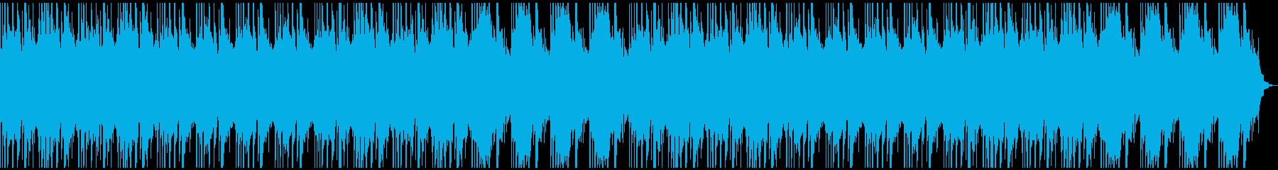 アンビエントなヒーリングBGMの再生済みの波形
