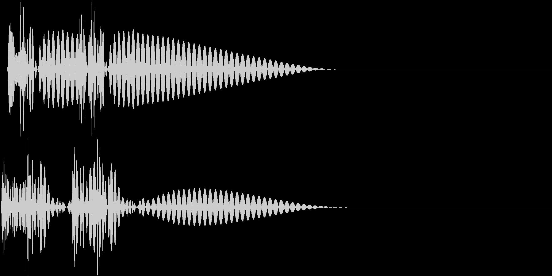 HeartBeat 心臓の音 2 単発の未再生の波形