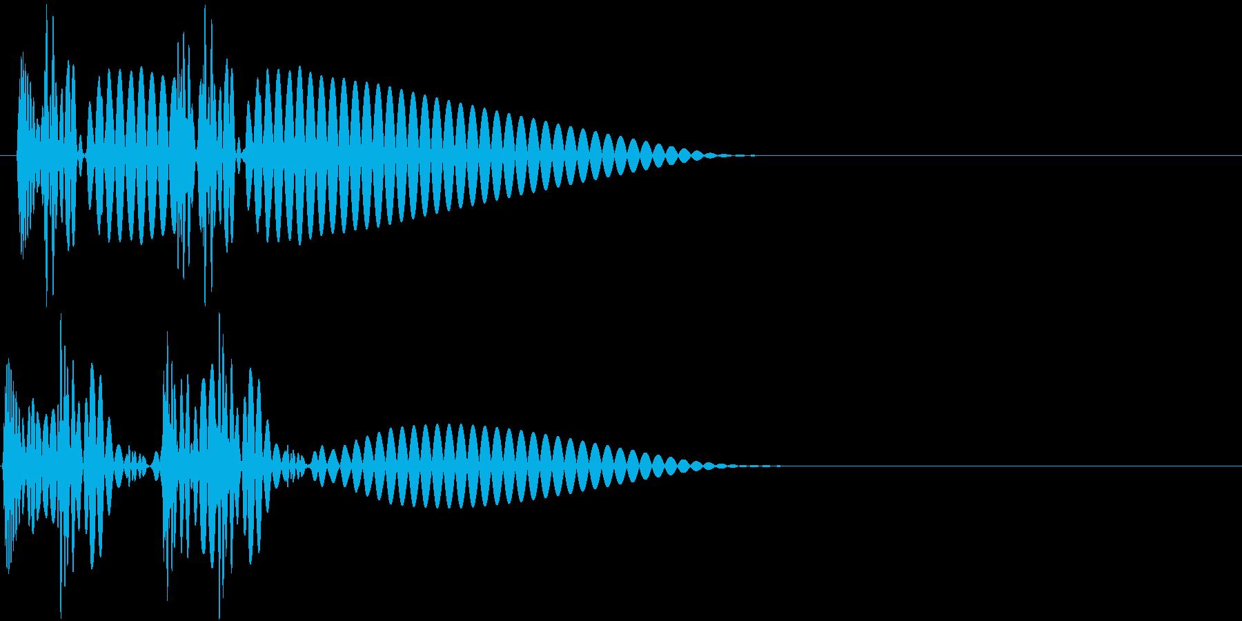 HeartBeat 心臓の音 2 単発の再生済みの波形