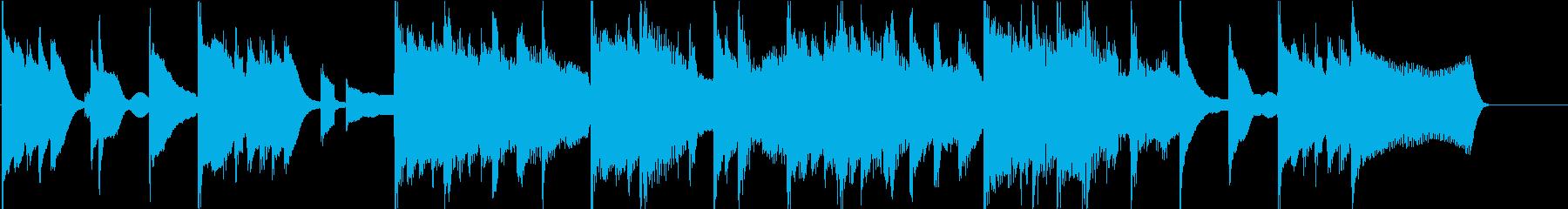 可愛いスタイリッシュなピアノ 15秒CMの再生済みの波形