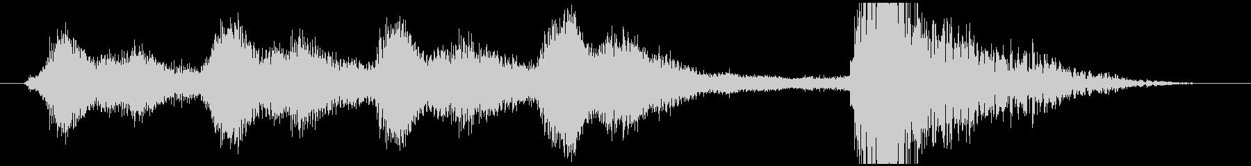 明るいオーケストラジングル short2の未再生の波形