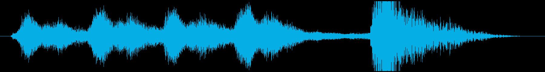 明るいオーケストラジングル short2の再生済みの波形