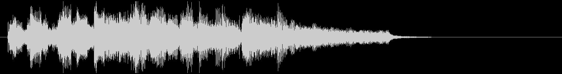 日常系ジャズのアイキャッチ、低音サックスの未再生の波形