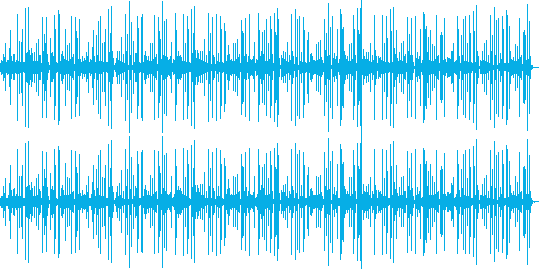 機械音のループの再生済みの波形