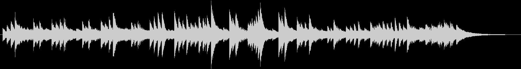 センチメンタルなメロディのピアノジングルの未再生の波形