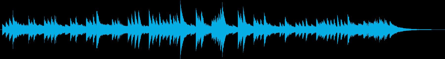 センチメンタルなメロディのピアノジングルの再生済みの波形