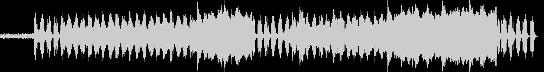 雨→雨上がりをイメージした曲です。の未再生の波形