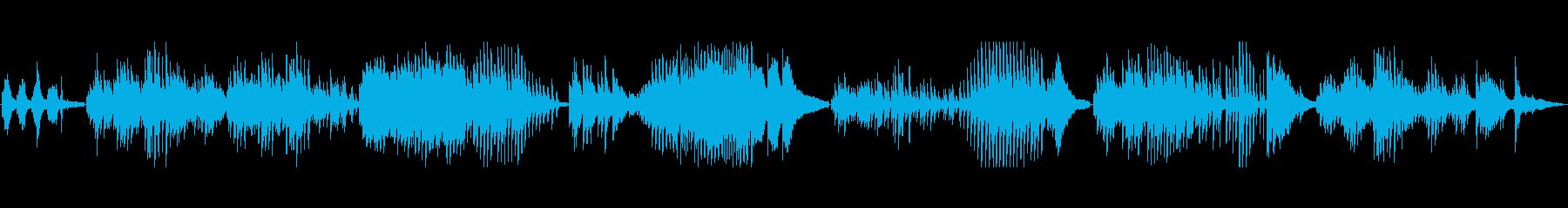 認知症の老人が街を徘徊するイメージの曲の再生済みの波形