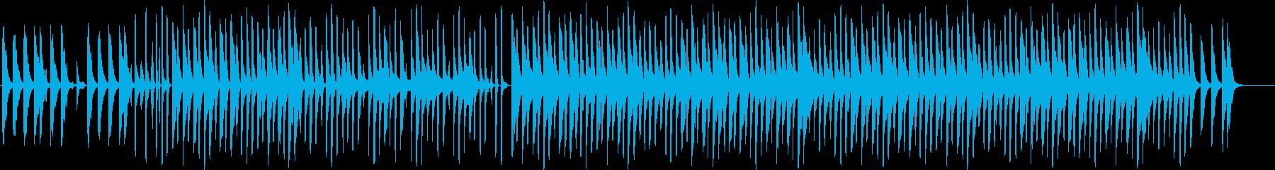 ほのぼの明るい、穏やかなBGMの再生済みの波形