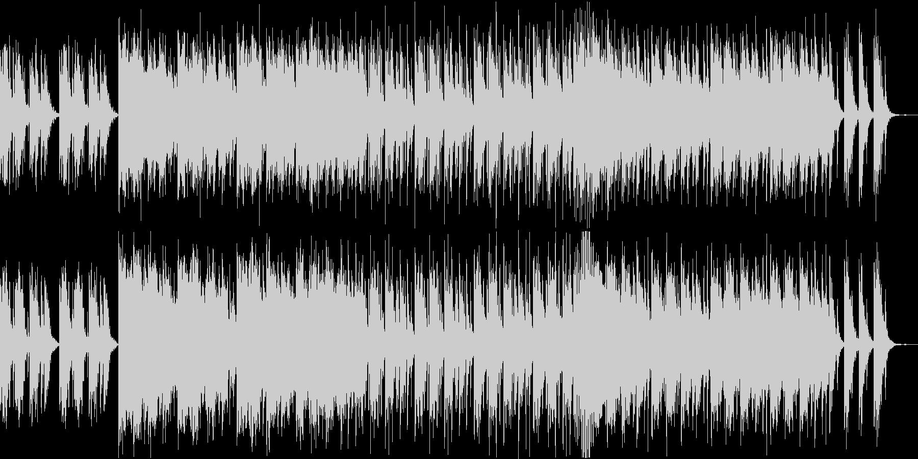和太鼓メインの和風BGM 修行 開戦前 の未再生の波形