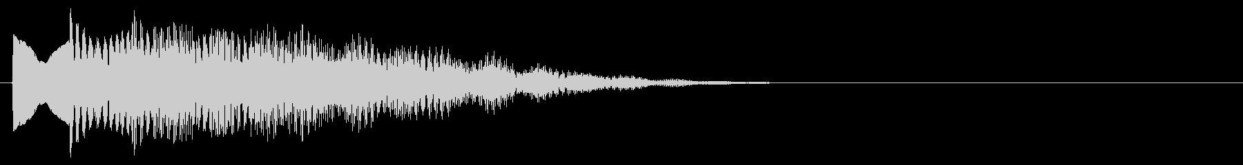 マレット系 決定音08(中)の未再生の波形