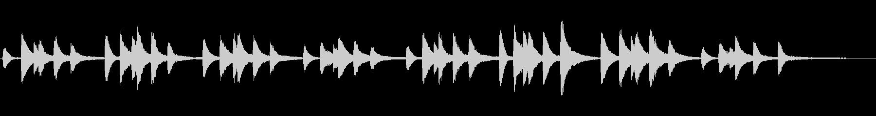 CMでよく聴くショパンのピアノの未再生の波形