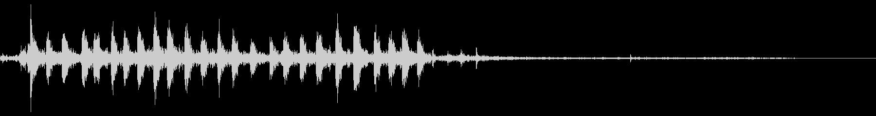 【銃声音002】マシンガンの音の未再生の波形