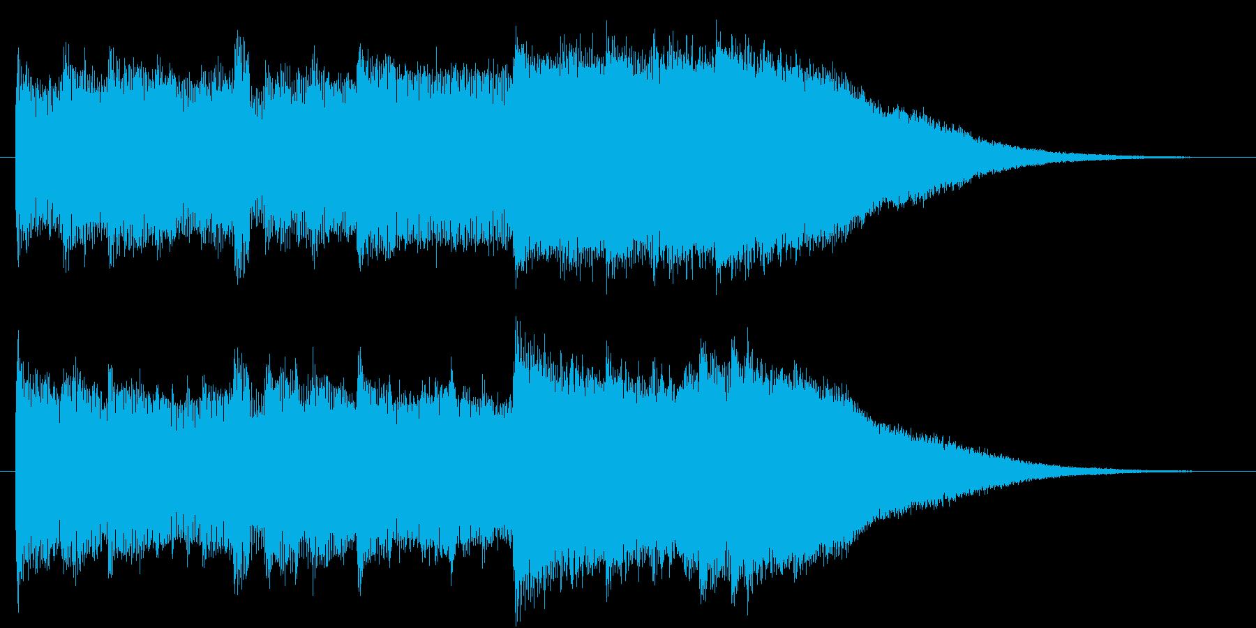 エレガントで高級感のあるオープニングロゴの再生済みの波形