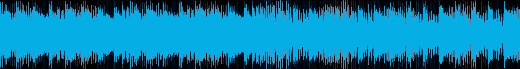近未来的なエレクトロニカ風BGMループの再生済みの波形