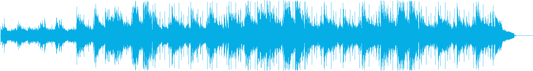 温かく平和的な優しいサウンドの再生済みの波形