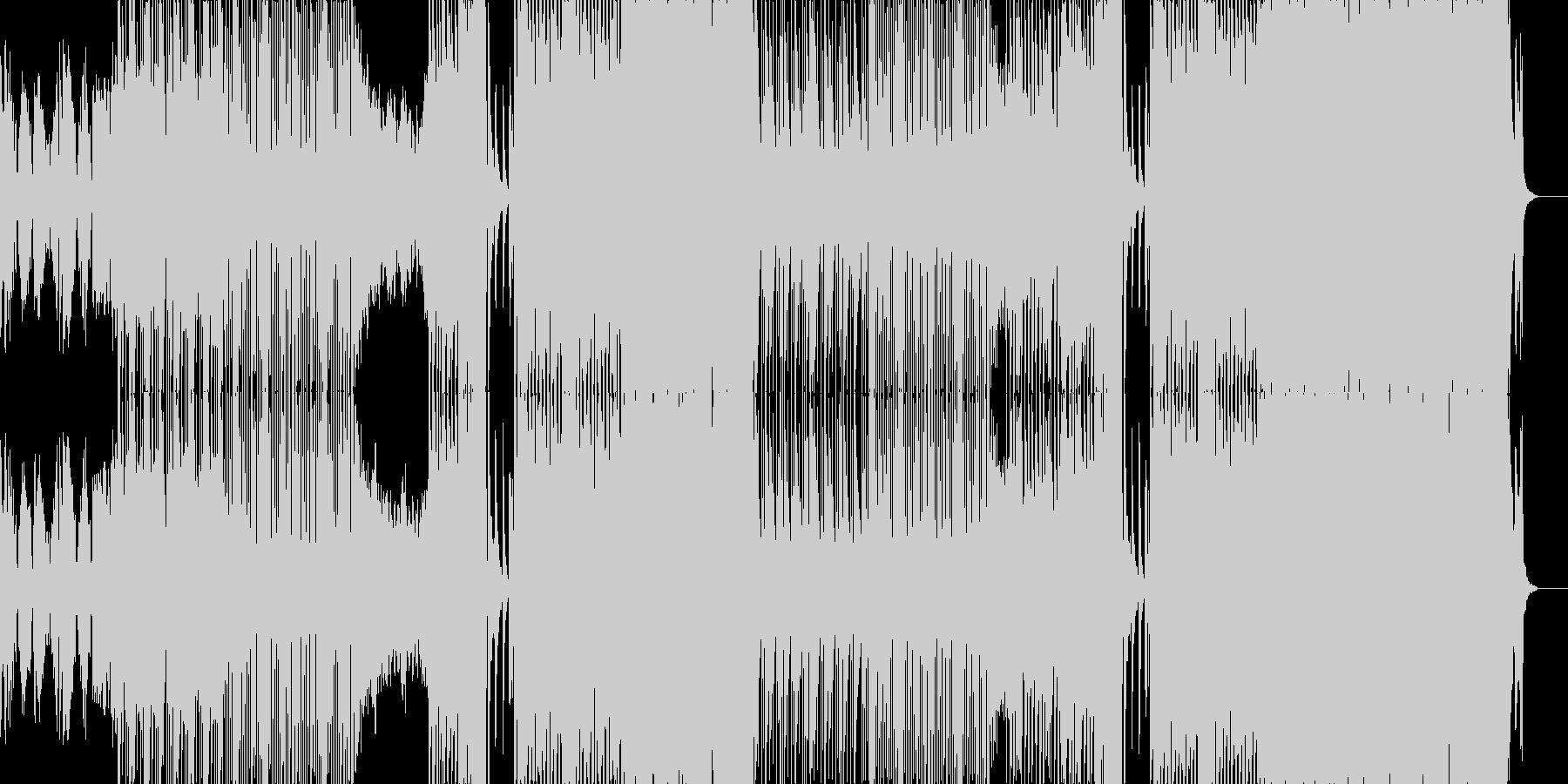 動画広告用/ヒップホップ/ラップの未再生の波形