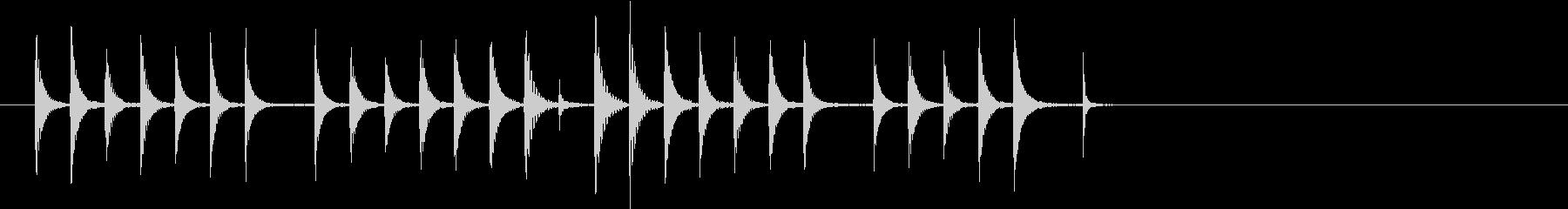 コミカルなイメージのSEの未再生の波形